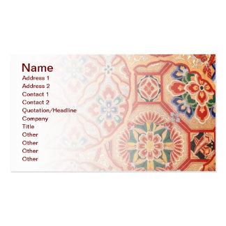 Japanese fabric Business Card