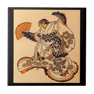 Japanese fairytale The Tongue Cut Sparrow Tile