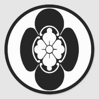 Japanese Family Crest(KAMON) of the Hotta's Classic Round Sticker