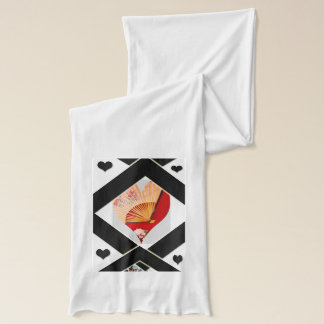 """""""Japanese Fan Hearts""""scarf for women"""".* Scarf"""