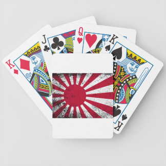 Japanese Flag Bicycle Playing Cards