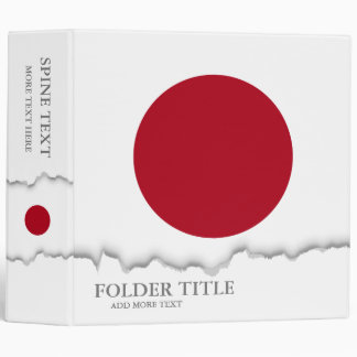 Japanese Flag Binder
