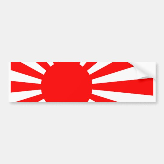 Japanese flag bumper sticker
