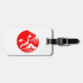 Japanese Flag Fuji Print Artistic Luggage Tag