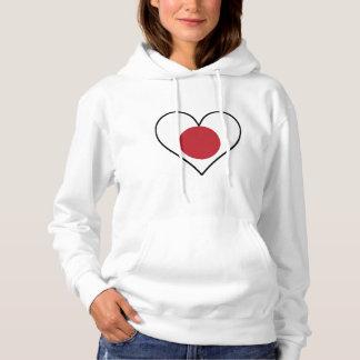 Japanese Flag Heart Hoodie