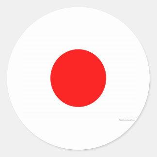 Japanese Flag Round Sticker