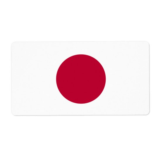 Japanese Flag Shipping Label
