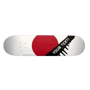 Japanese Flag Skateboard