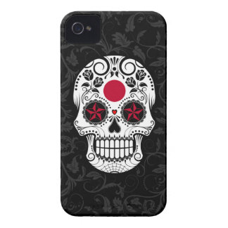 Japanese Flag Sugar Skull with Roses iPhone 4 Cover
