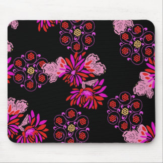 japanese floral design mouse pad