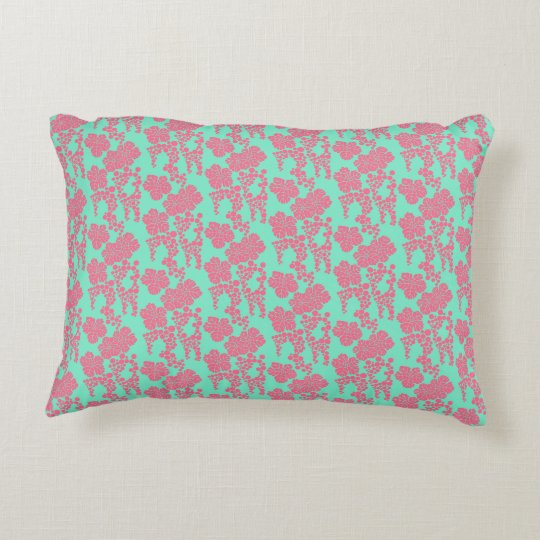 Japanese Floral Print - Cotton Accent Pillow