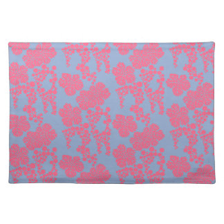 Japanese Floral Print - Pink & Purple Placemats