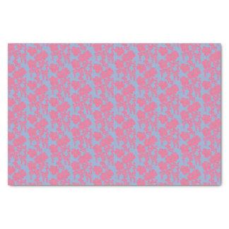Japanese Floral Print - Pink & Purple Tissue Paper