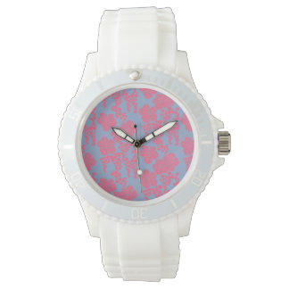 Japanese Floral Print - Pink & Purple Watch
