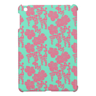 Japanese Floral Print - Pink & Teal IPad Mini Case