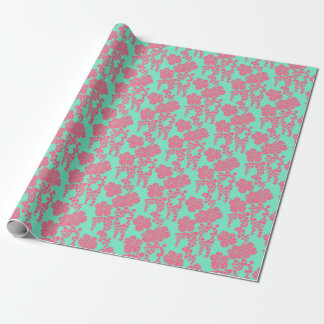 Japanese Floral Print Wrapping Paper