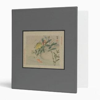 Japanese Floral Vinyl Binder