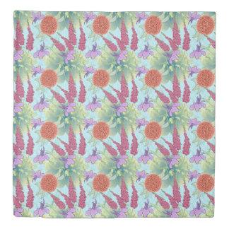 Japanese Flower Garden Duvet Cover