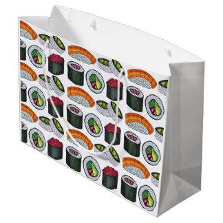 Japanese Food Sushi California Tuna Avocado Rolls Large Gift Bag