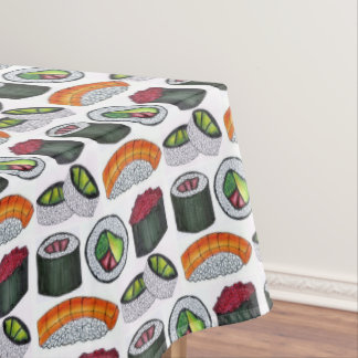 Japanese Food Sushi California Tuna Roll Nigiri Tablecloth