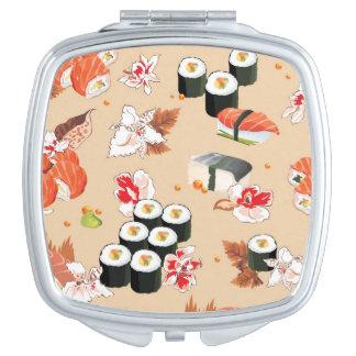 Japanese Food: Sushi Pattern 3 Mirrors For Makeup