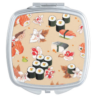 Japanese Food Sushi Pattern 3 Mirrors For Makeup