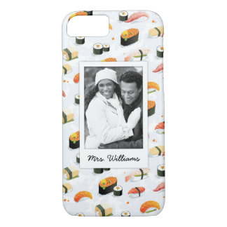 Japanese Food | Sushi Pattern | Add Your Photo iPhone 8/7 Case
