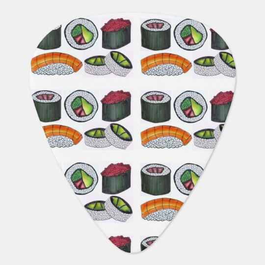 Japanese Food Sushi Roll Tuna Rolls Foodie Gift Guitar Pick