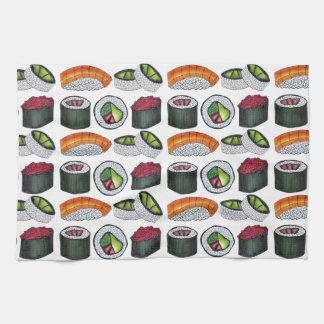Japanese Food Sushi Tuna Roll Salmon Nigiri Foodie Kitchen Towel