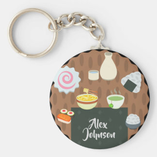Japanese Foods and Beverages Keychain