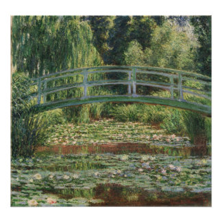 Japanese Footbridge and Water Lily Pool by Monet Photo Print