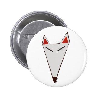Japanese Fox badge 2 Inch Round Button