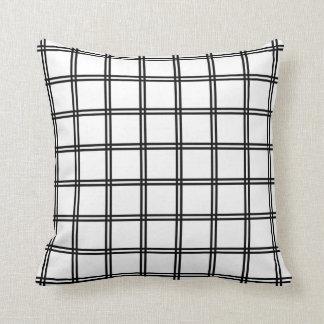 Japanese Futasuji Pattern White Throw Pillow