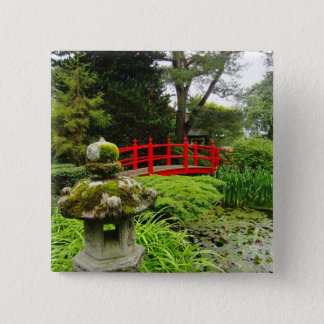 Japanese Garden 2 Inch Square Button