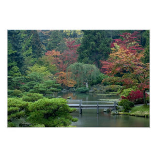 Japanese Garden at the Washington Park Poster