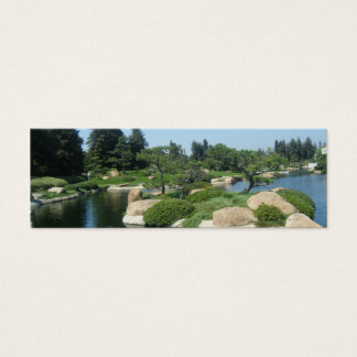 Japanese Garden Bookmark Mini Business Card