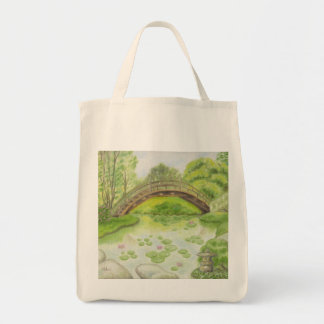 Japanese Garden grocery bag