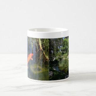 Japanese Garden Koi Fish Lily Pond Mug