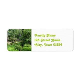 Japanese Garden Return Address Labels