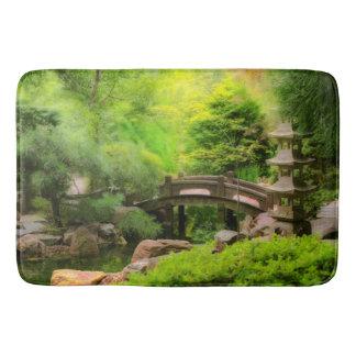 Japanese Garden - Water under the bridge Bath Mat