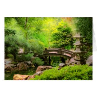 Japanese Garden - Water under the bridge Card
