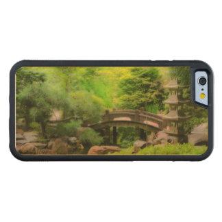 Japanese Garden - Water under the bridge Carved Maple iPhone 6 Bumper Case