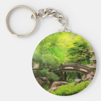 Japanese Garden - Water under the bridge Keychain