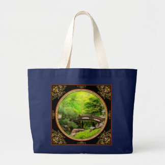 Japanese Garden - Water under the bridge Large Tote Bag