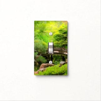 Japanese Garden - Water under the bridge Light Switch Cover