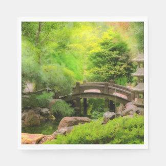 Japanese Garden - Water under the bridge Napkin