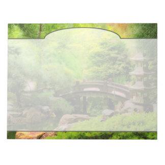 Japanese Garden - Water under the bridge Notepad