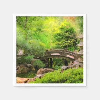 Japanese Garden - Water under the bridge Paper Napkin