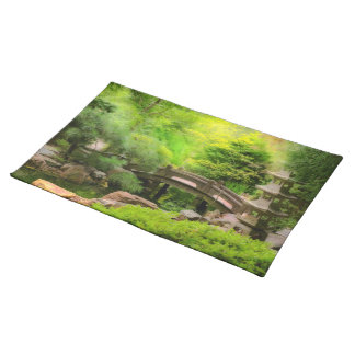 Japanese Garden - Water under the bridge Placemat