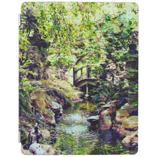 Japanese Garden With Bridge and Stream iPad Cover